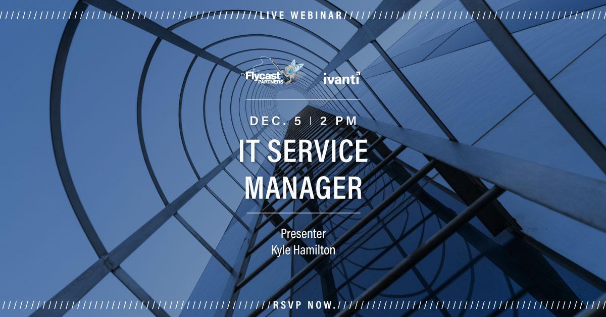 IT Service Manager Webinar December 12