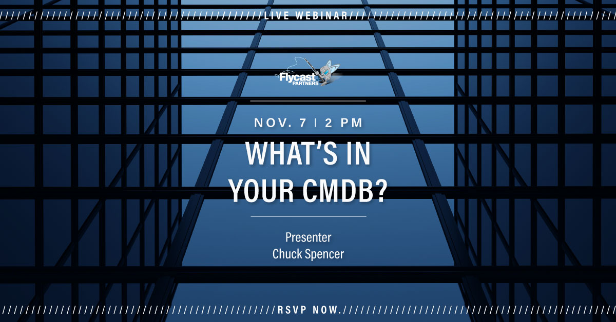 What's in Your CMDB? November 7